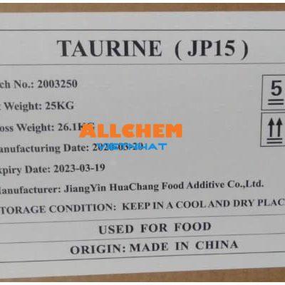 Taurine JP8 – JP15, C2H7NO3S
